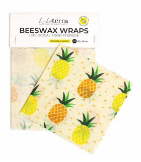 Bee wraps, motif ananas, Takaterra