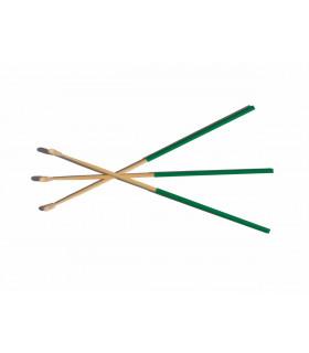 A set of three bamboo ear picks