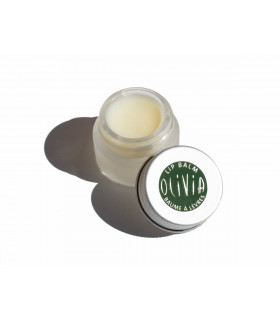 Marius Fabre open glass jar with organic lip balm
