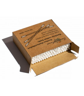 200 Curanatura  bamboo sticked cotton buds with cardboard pack