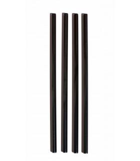 Black Stainless Steel Straws Set