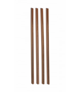 Pink Gold colored Stainless Steel Straws