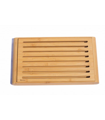 Bread cutting crumboard made from bamboo