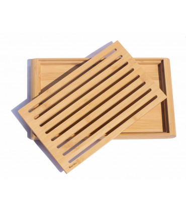 Bread cutting crum board made from bamboo