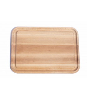 Large wooden cutting and serving board