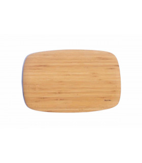Beautiful bamboo cutting board with round design by Bambu works as perfect serving board
