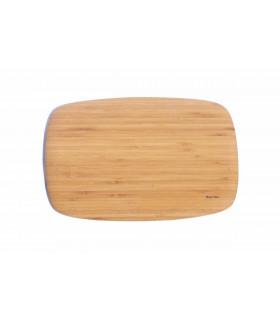 Superbe planche à découper en bambou design arrondie en bambou de la marque Bambu