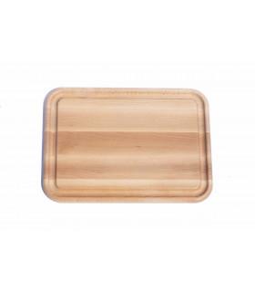 Planche à découper écologique en bois avec rainure taille moyenne