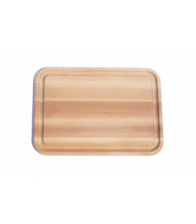 Ecological design wooden cutting board with groove medium size