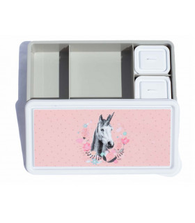Love Mae bento style, BPA-free, unicorn pattern lunch box for girls
