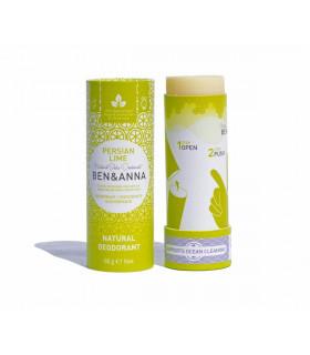 Vegan deodorant bar stick Persian Lime of Ben & Anna