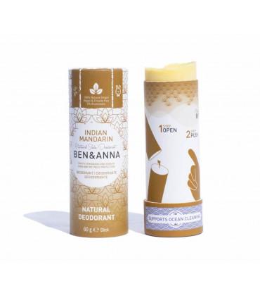 Natural deodorant bar stick of Ben & Anna