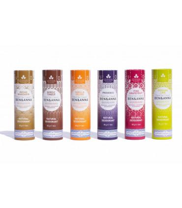 Vegan and natural solid bar deodorants of Ben & Anna