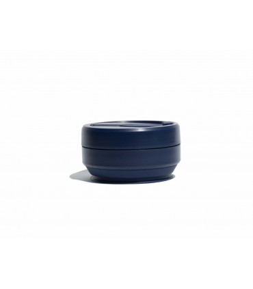 473 ml collapsed Stojo silicone cup dark blue