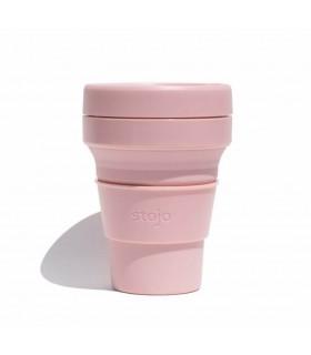 Tasse pliable Stojo 355ml rose pâle en silicone