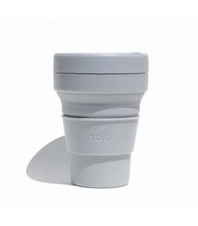 Tasse pliable Stojo 355ml grise en silicone