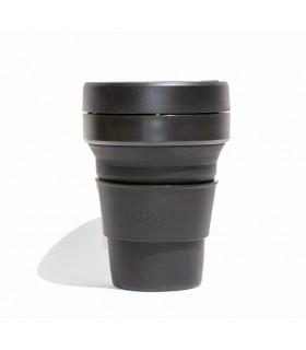 Tasse pliable Stojo 355ml noire en silicone