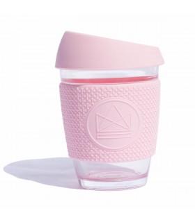 Mug en verre design rose pastel 340ml Neon Kactus