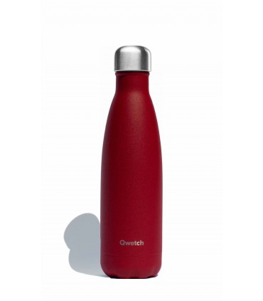 Qwetch Reusable water bottle Granite red colored 500 ml medium size