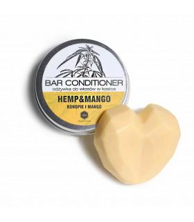 Après-shampoing solide Herbs&Hydro mangue et chanvre pour cheveux secs et bouclés