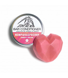 Herbs&Hydro Raspberry natural bar conditioner for normal and slight dry hair