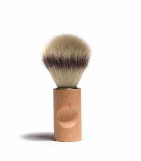 Shaving brush silver tip, beech and synthetique fiber of Iris Hantverk