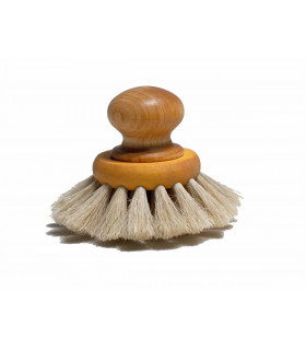 Wooden and natural dish brush with knob from Iris Hantverk