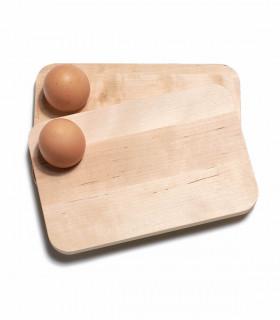 Assiette coquetier en bois pour petit déjeuner d'Iris Hantverk