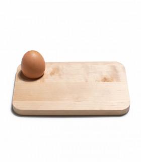 Assiette planche à œuf en bois pour petit déjeuner d'Iris Hantverk