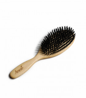 Hair brush made of wood and wild boar bristle, Anaé