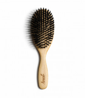 Wooden Hair Brush made of wild boar bristle, Anaé