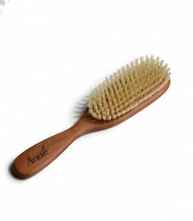 Hair brush made of wood and natural bristles, Anaé