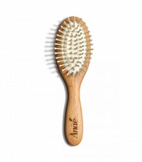 Petite brosse à cheveux en bois et picots en bois d'Anaé