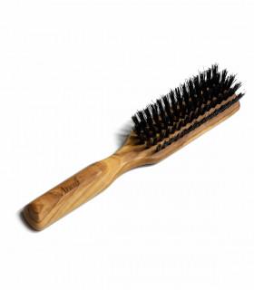 Brosse à cheveux en bois et poils de sanglier, Anae