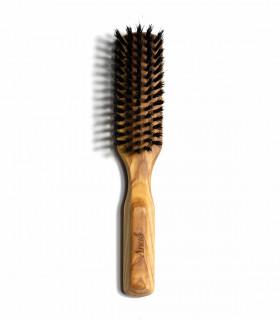 Brosse à cheveux naturelle en bois d'olivier et poils de sanglier d'Anae