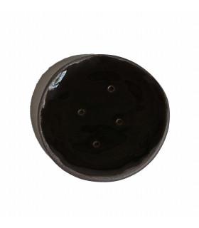 Porte savon en céramique noir, fait main, Takaterra