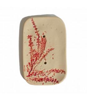 Rectangular hand made ceramic soap dish
