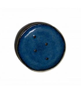 Ceramic, handmade, dark blue soapdish, Takaterra