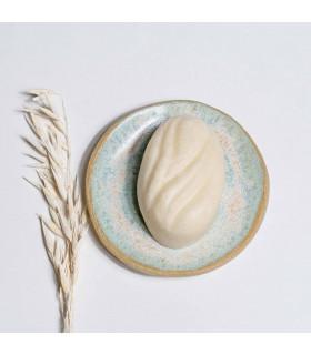 Handmade ceramic soap dish, blue sky, Takaterra