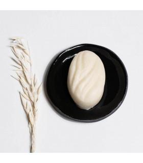 Ceramic soap dish, round and black of Takaterra
