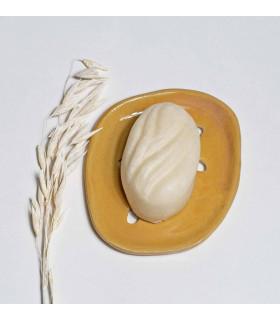 Porte savon céramique vintage en forme d'ovale, Takaterra
