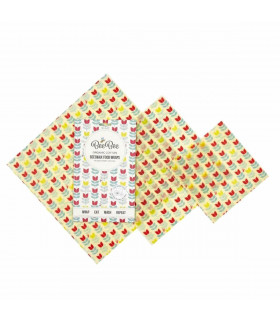 Beeswax tulip food wrap, mixed pack of BeeBee Wraps