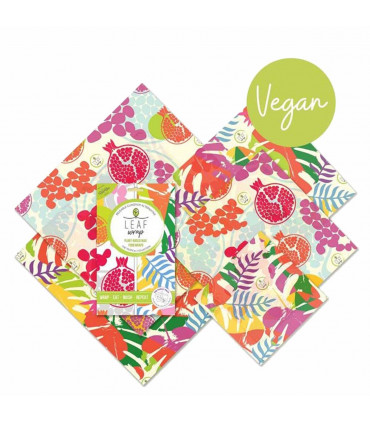 Vegan wax food wraps, family pack from Beebee wraps