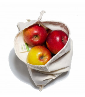 Medium sized produce organic cotton bag for fruits and vegetables