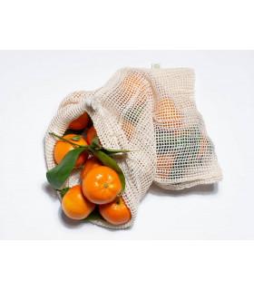 Filet à vrac en coton biologique pour fruits et légumes