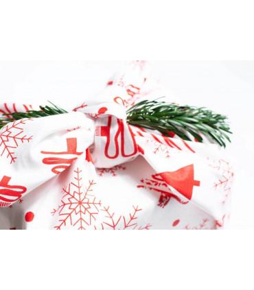 Grand furoshiki, motif Noël, Takaterra