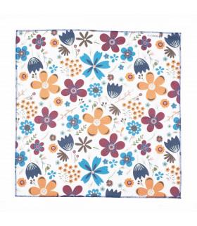 Furoshiki, taille grande, motif fleurs, Takaterra