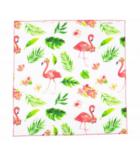 Furoshiki « Flamingo Island » 75x75 cm