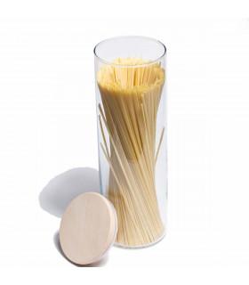 Bocal en verre avec son couvercle hermétique en bois 1,8 L
