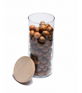 Bocal en verre avec couvercle en bois 1,4L, Ah Table